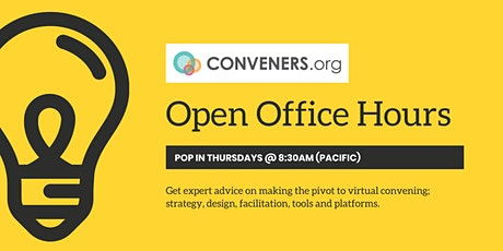 Conveners.org Open Office Hours tickets