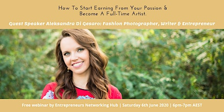How To Start Earning From Your Passion &  Become A Full-Time Artist. tickets