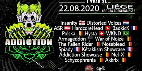 ADDICTION presents 1 YEAR XL EDITION billets
