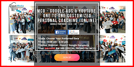 (Google Partner) Google Ads&YouTube  Online Customized One To One Coaching tickets