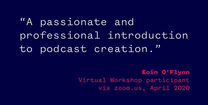 First Steps in Audio Podcasting - Virtual Workshop via ZOOM.us image
