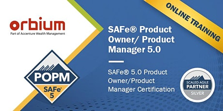 Online SAFe Product Owner / Product Manager 5.0 Certification Training tickets