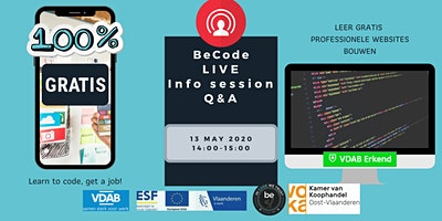 BeCode Gent Live Infosession – Q&A