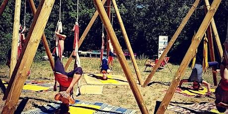 Yoga aérien sous les arbres billets