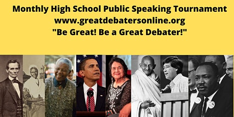 High School Student Monthly Public Speaking Tournament (Free) tickets