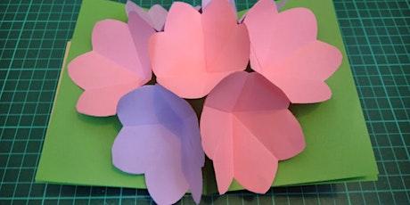 Online Craft - DIY popup card Workshop tickets