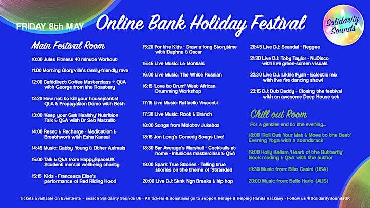 Solidarity Sounds UK - Online Bank Holiday Festival image