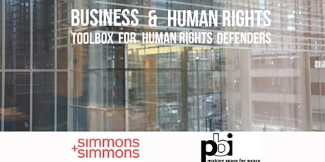 WEBINAR - Business and Human Rights: Toolbox for Human Rights Defenders entradas