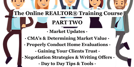 PART 2 Tune Up Online REALTOR®Training Course 3 PDP HRS tickets
