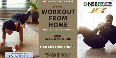 Workout From Home with NSBE Boston & JET Boston tickets