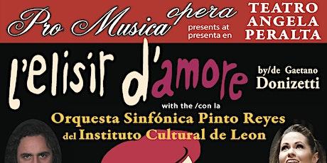 Pro Musica Opera TAP 2021 boletos