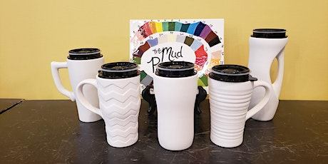 Travel Mug Pottery Painting Take Home kit curbside pick up tickets