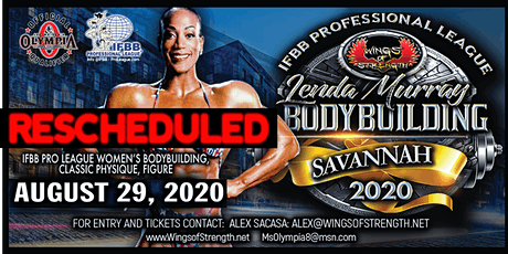 **NEW** IFBB Wings of Strength & Lenda Murray Savannah Pro-Am (IFBB & NPC) tickets