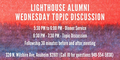 Alumni Wednesday Topic Discussion tickets
