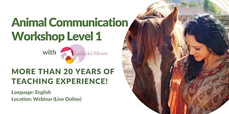 Animal Communication Workshop Webinar Level 1 (English) tickets