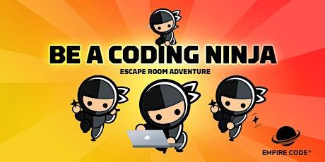 Be A Coding Ninja Escape Room tickets