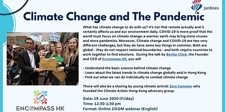 Climate change and the pandemic tickets