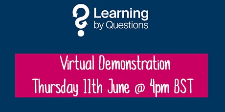 Learning by Questions invites Guernsey schools to a virtual demonstration tickets