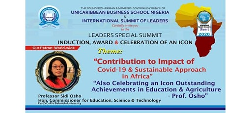 Contribution to Impact of Covid-19 and  Sustainable Approach in Africa tickets