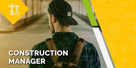 Construction Manager - OPEN DAY biglietti