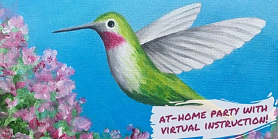 Hummingbird Paint Party with Virtual Instruction from Brush & Cork