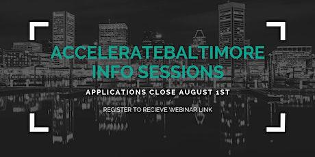 AccelerateBaltimore Info Session tickets