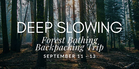 Deep Slowing: Forest Bathing Backpacking Trip tickets