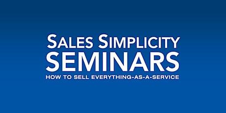 Virtual Sales Simplicity Seminar - August 25 & 26, 2020 tickets