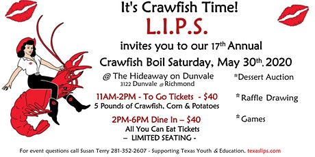 LIPS 17th Annual Crawfish Boil tickets