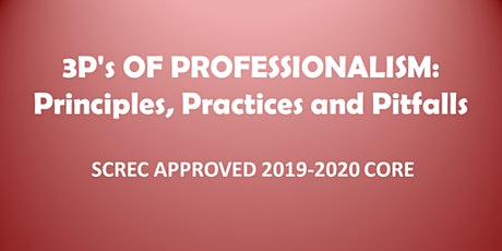 3Ps of Professionalism (4 CE CORE) Webinar Monday June 15, 2020 (1-5) tickets