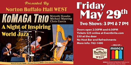 KoMaGa Trio at MONCA - Postponed tickets