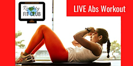 Tuesdays 9am PST LIVE Rock Hard Abs: Core Abdominal Toning @Home Workout tickets