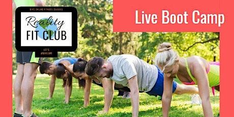 Saturdays  10am LIVE Body Boot Camp: Body Weight Drills @ Home Workout boletos