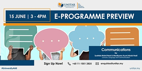 UNITAR Communications e-Programme Preview tickets