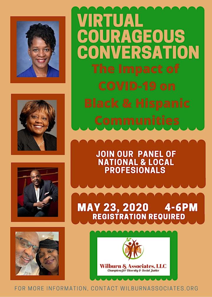 Courageous Conversation: Impact of COVID-19 on Black & Hispanic Communities image