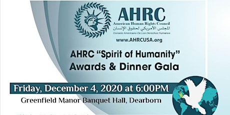 "AHRC ""Spirit of Humanity"" Awards & Dinner Gala tickets"