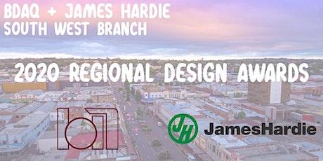 BDAQ + James Hardie South West Branch 2020 Regional Design Awards tickets