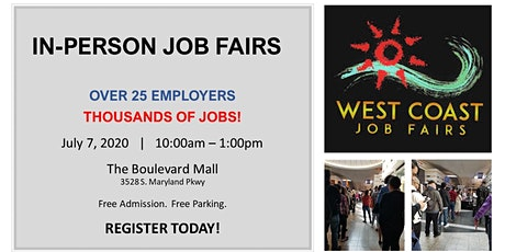 Live and In-person Job Fairs Return September 30, 2020 tickets
