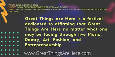Great Things Are Here Virtual Festival tickets