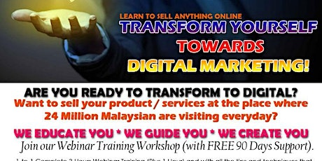 ARE YOU READY TO TRANSFORM TO DIGITAL MARKETING tickets