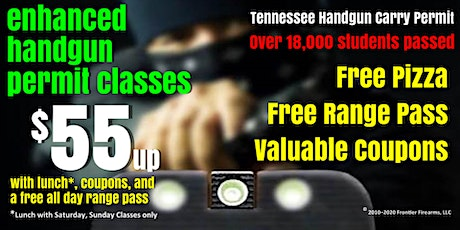Sat or Sun Enhanced Handgun Carry Permit Class - Jul, Aug, Sep tickets