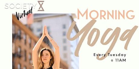 SocietyX Virtual : Morning Yoga tickets