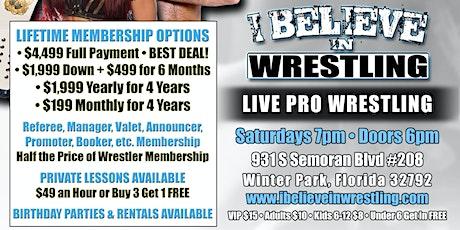 I Believe in Wrestling: BELIEVE 202 tickets