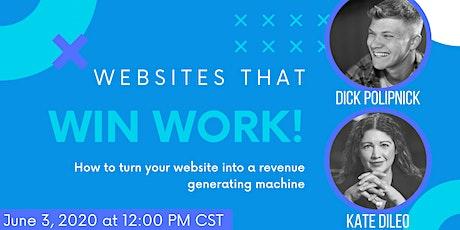 Websites that Win Work tickets