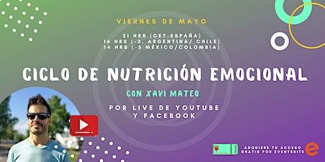Nutrición Emocional /// Ciclo Charlas Online MAYO entradas