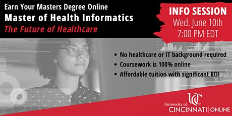 Info Session - UC Online Master of Health Informatics tickets