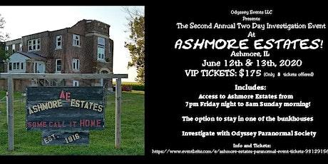 Ashmore Estates Paranormal Event! tickets