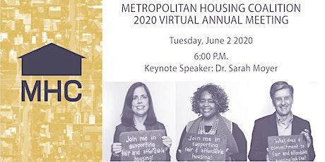 2020 Metropolitan Housing Coalition Virtual Annual Meeting tickets