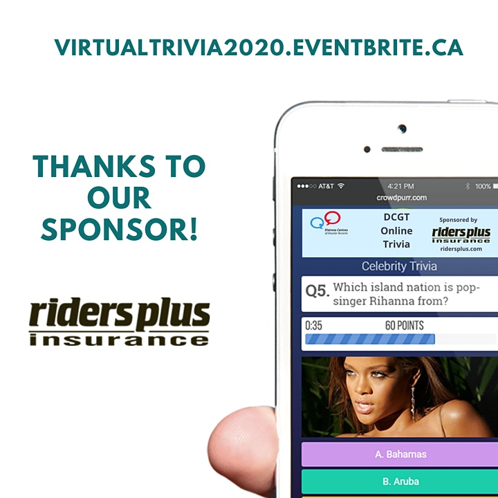 Saturday Nights Virtual Trivia in Support of Distress Centres image