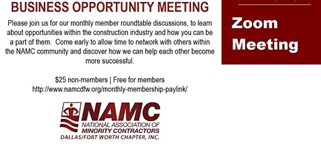 Business Opportunity Meeting tickets